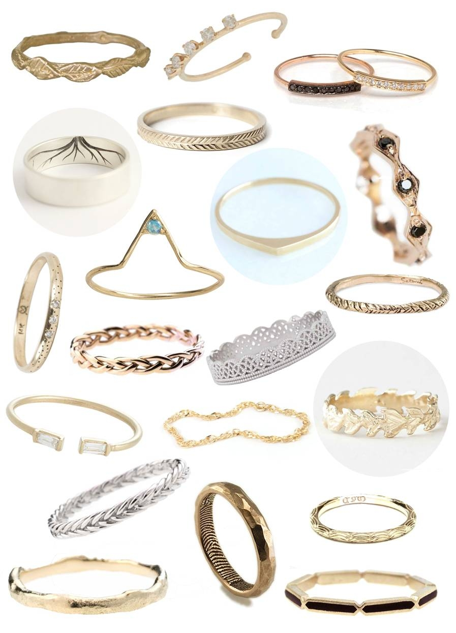 30 Non Traditional Wedding Rings Under $500 | A Practical Wedding Pertaining To Untraditional Wedding Bands (View 3 of 15)