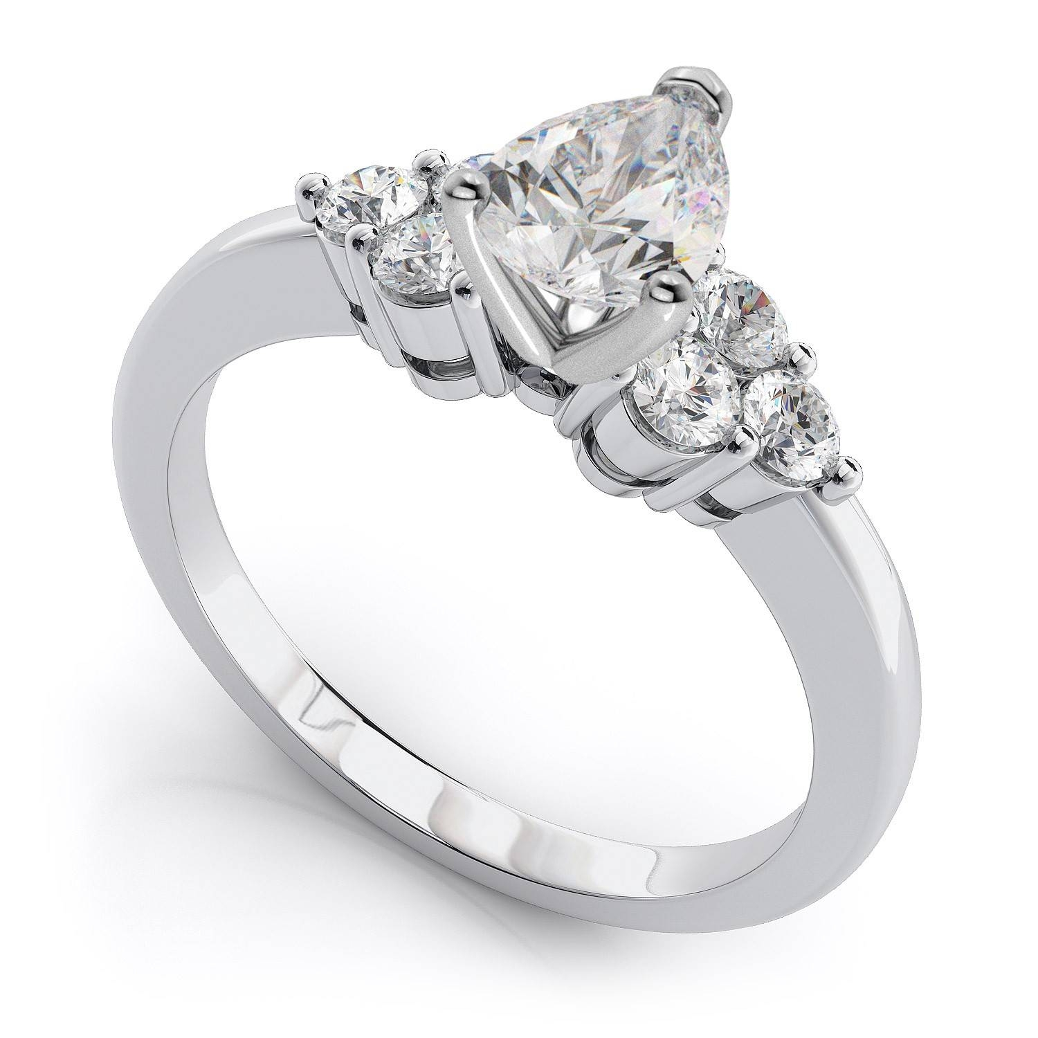 Photo Gallery of Platinum Wedding Rings Settings Viewing 6 of 15