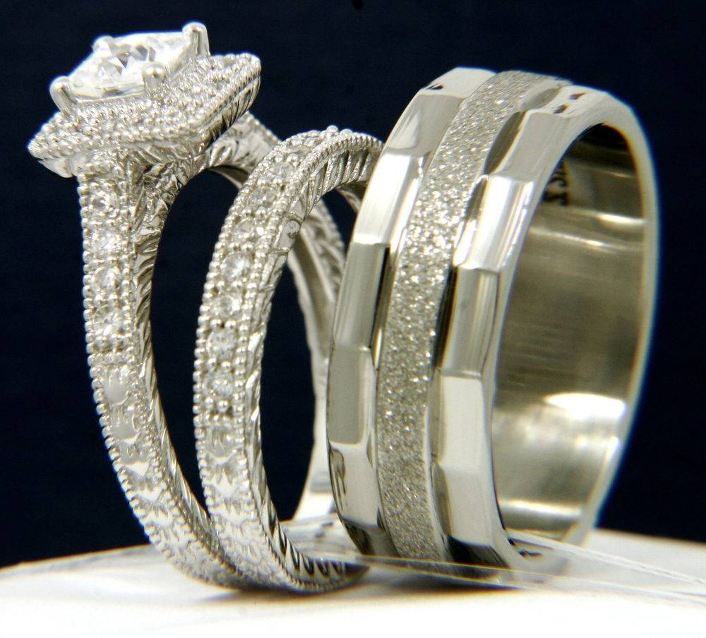 wedding ring sets 15 best of wedding rings for and groom sets 9988