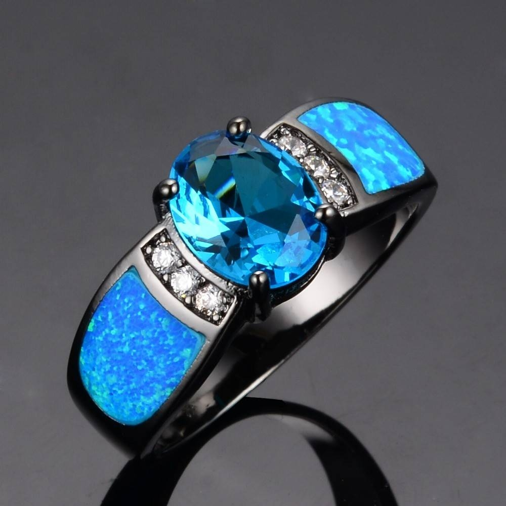 32 Most Wanted Wonderful Blue Opal Engagement Rings | Eternity Jewelry Regarding Blue Opal Wedding Rings (Gallery 5 of 15)
