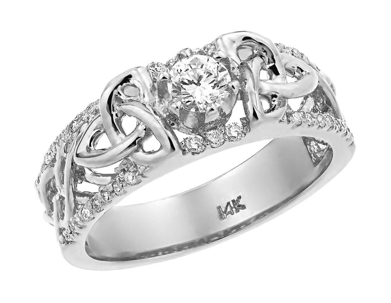 2018 latest irish style engagement rings