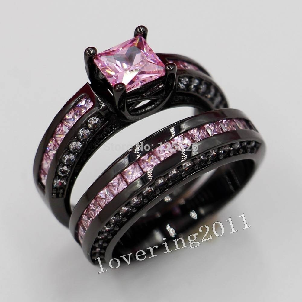 33 Black And Pink Diamond Wedding Sets, Diamond Engagement Rings Intended For Black Gold Diamond Wedding Rings (Gallery 8 of 15)