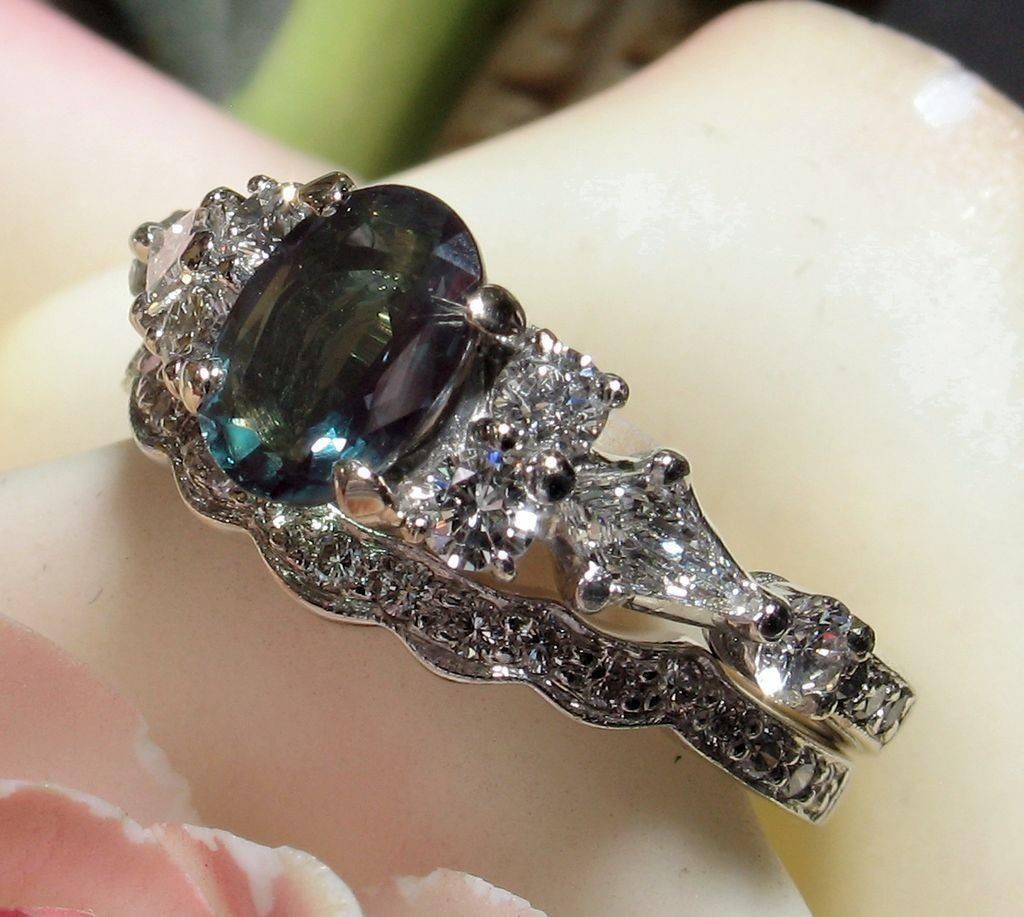 35 alexandrite wedding set alexandrite rings wedding ring sets inside alexandrite wedding bands gallery - Alexandrite Wedding Ring