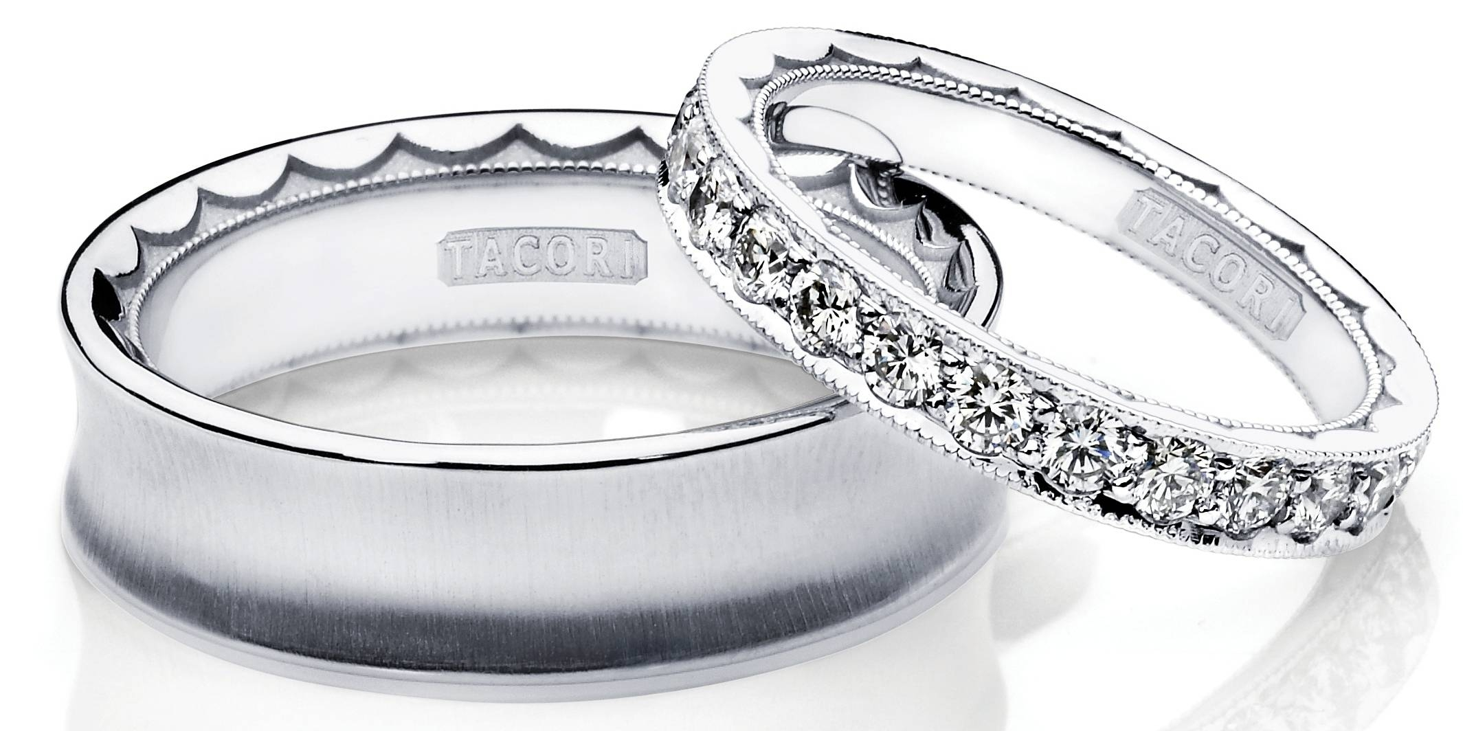 39 Platinum Wedding Band Sets, Platinum Diamond Ring Set: Wedding Intended For Platinum Wedding Bands For Her (View 3 of 15)