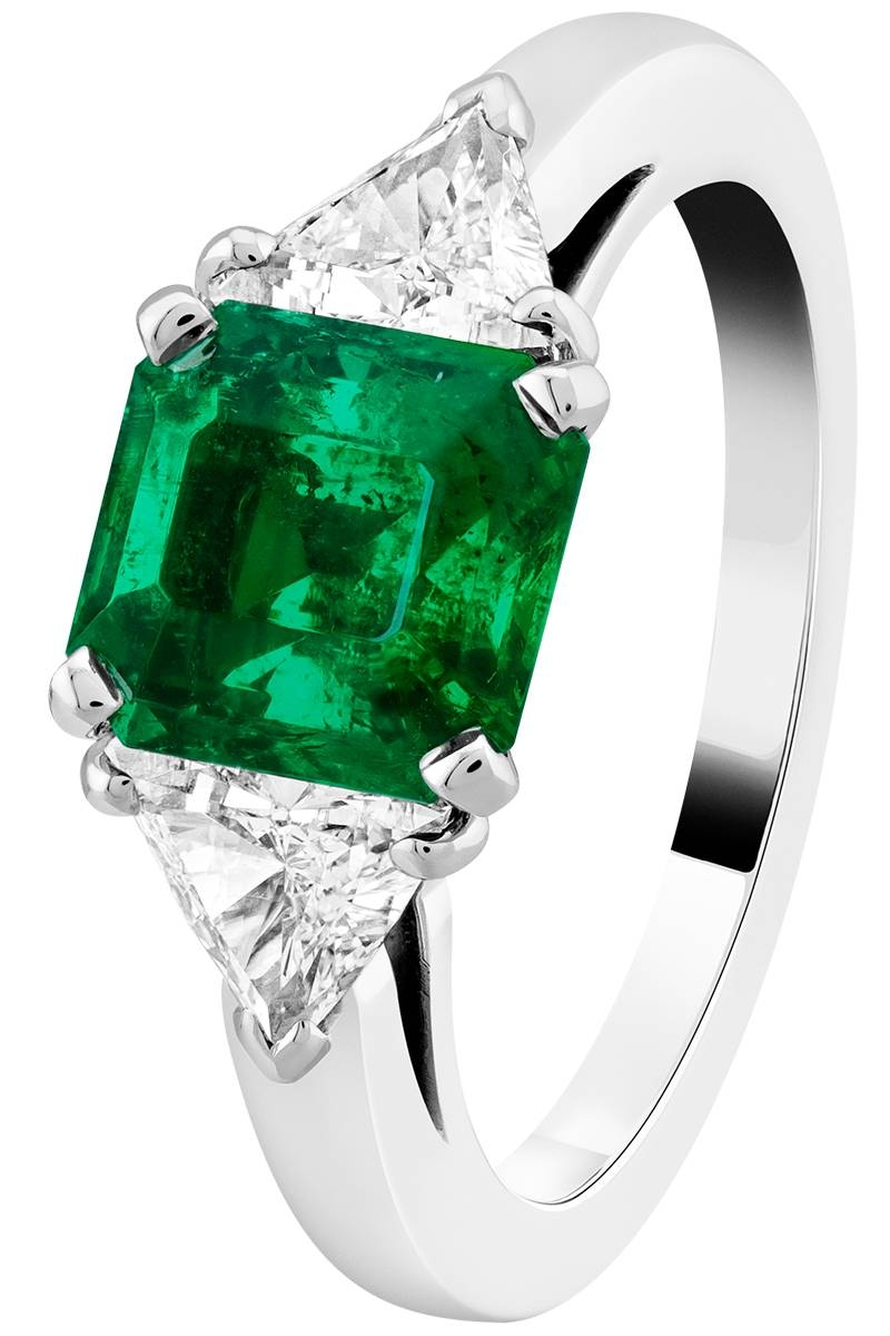 39 Unique Emerald Engagement Rings – Beautiful Green Emerald Intended For Engagement Rings With Emerald (View 15 of 15)