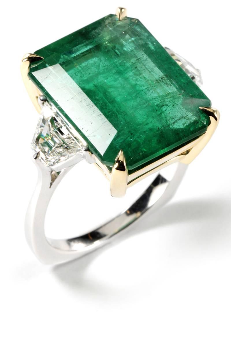 39 Unique Emerald Engagement Rings – Beautiful Green Emerald With Engagement Rings With Emerald (Gallery 5 of 15)