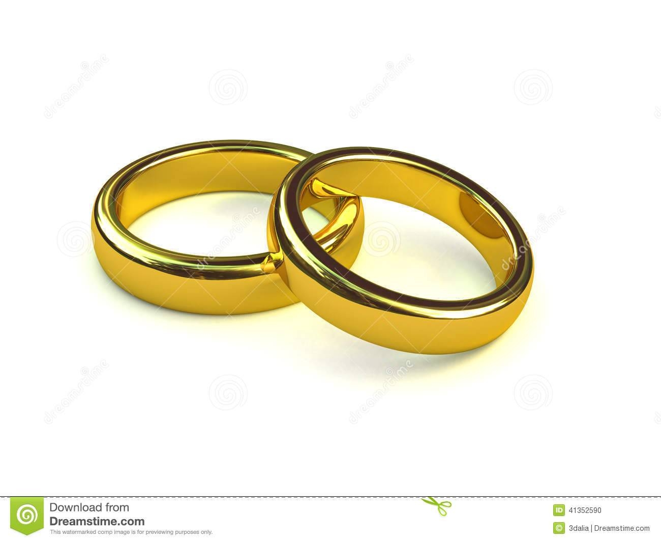 3D Pair Of Gold Engagement Rings Stock Illustration – Image: 41352590 With Regard To Pair Wedding Rings (View 1 of 15)