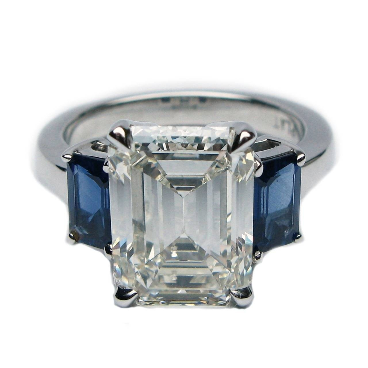 4.93 Carat Emerald Cut Diamond Blue Sapphire Ring Egl Certified For Emerald Sapphire Engagement Rings (Gallery 5 of 15)