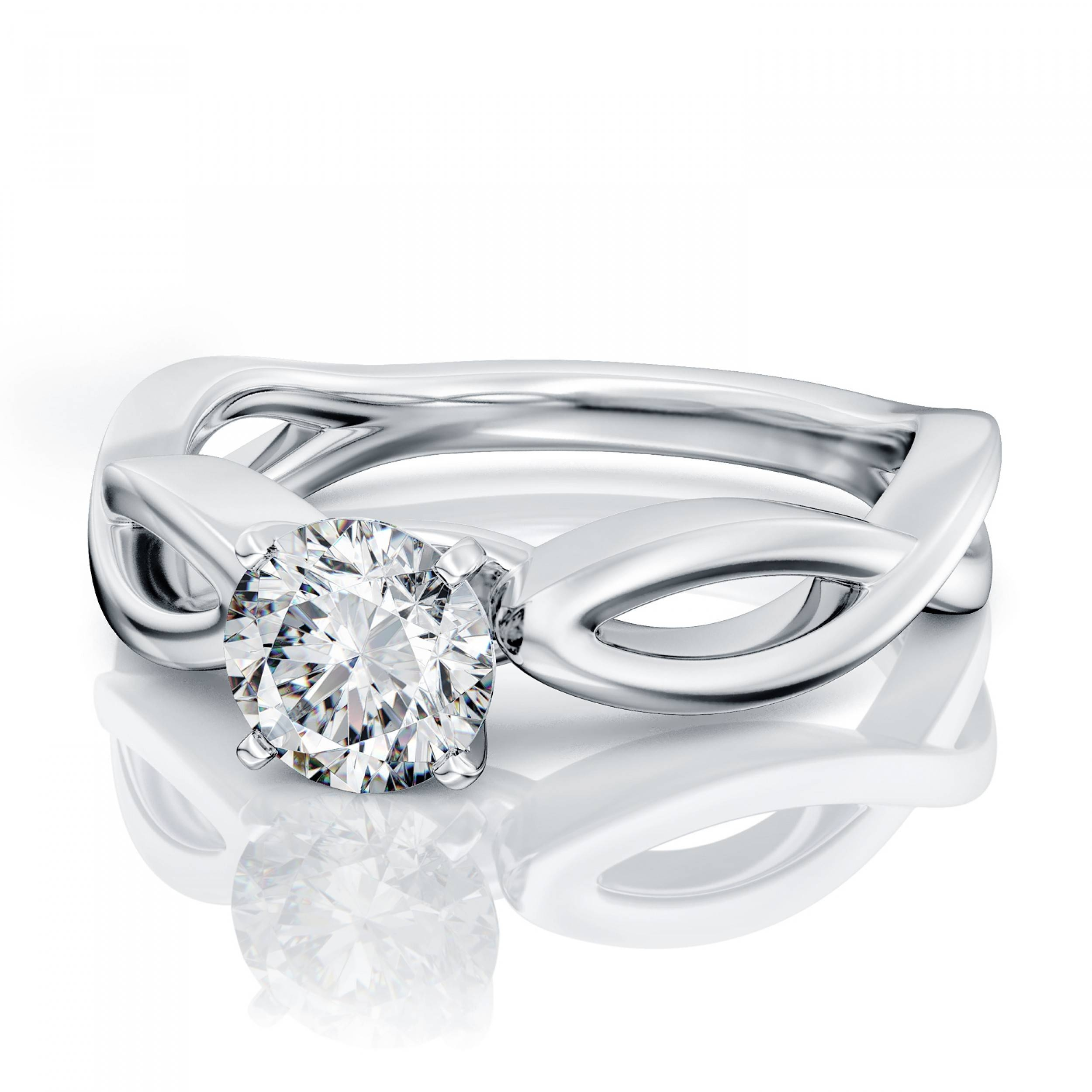 40 Carat Intricate Diamond Engagement Ring In 18K White Gold Gia Intended For Intricate Engagement Rings (View 3 of 15)