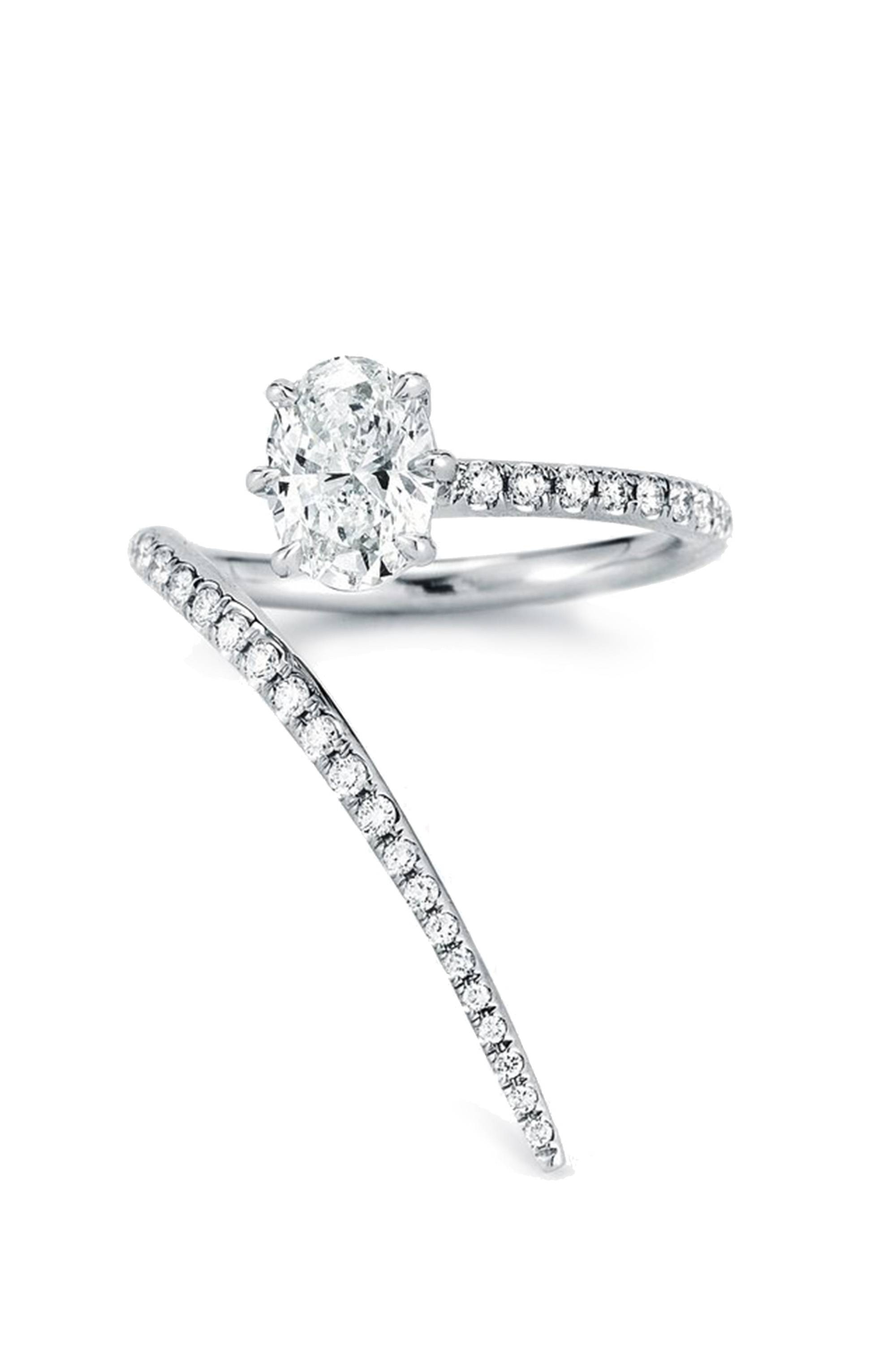 41 Unique Engagement Rings – Beautiful Non Diamond And Unusual Throughout Unusual Diamond Wedding Rings (View 1 of 15)