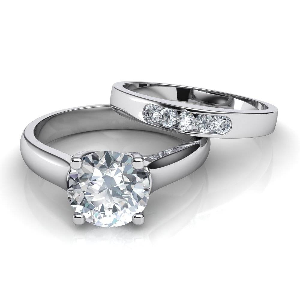 43 Diamond Solitaire Wedding Ring Sets, Ring Solitaire Diamond Regarding Wedding Rings To Go With Solitaire Engagement Rings (View 11 of 15)