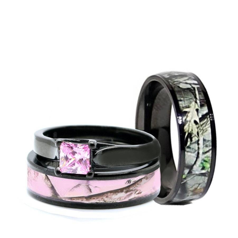 44 His And Her Camo Wedding Ring Sets, His Her Black Titanium Camo Inside His And Hers Camo Wedding Bands (View 2 of 15)
