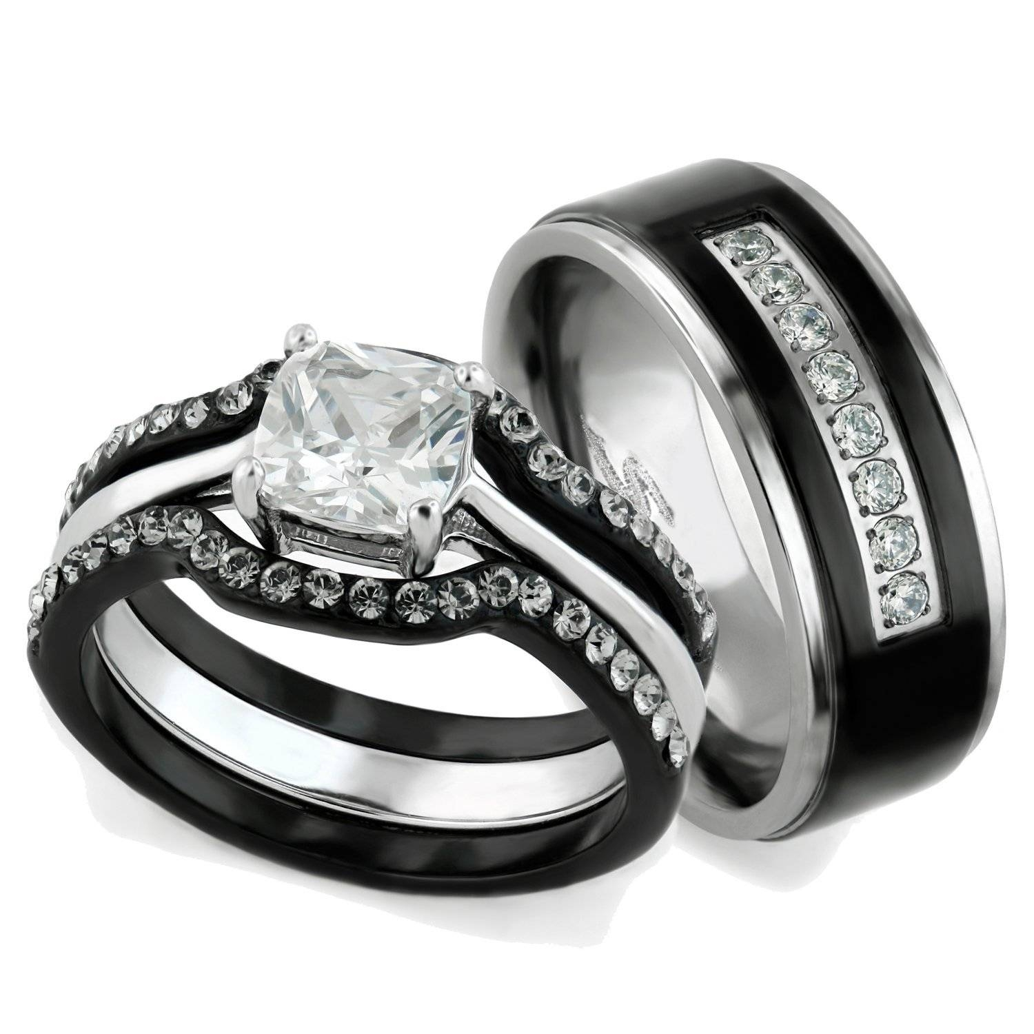 45 Walmart Wedding Sets, Walmart Wedding Rings Sets For Him And For Walmart White Gold Wedding Bands (Gallery 5 of 15)