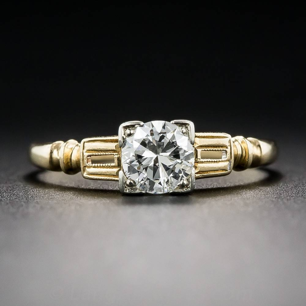 46 Carat Diamond Art Deco Engagement Ringtraub Orange Blossom Regarding Orange Blossom Wedding Bands (View 5 of 15)