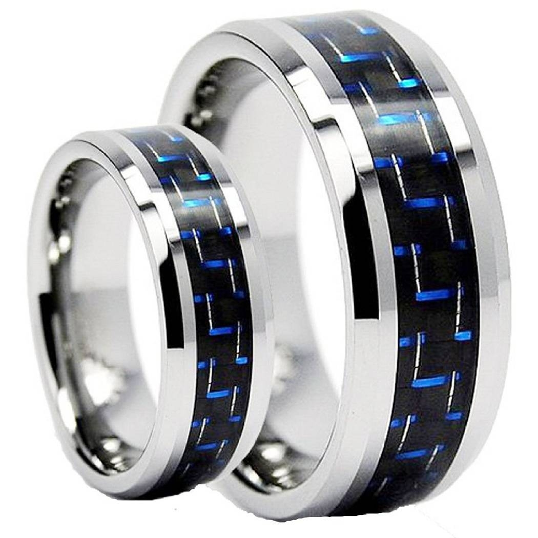 49 Wedding Bands Sets His And Her Matching, Titanium His And Her Intended For Tungsten Wedding Bands Sets His And Hers (View 15 of 15)