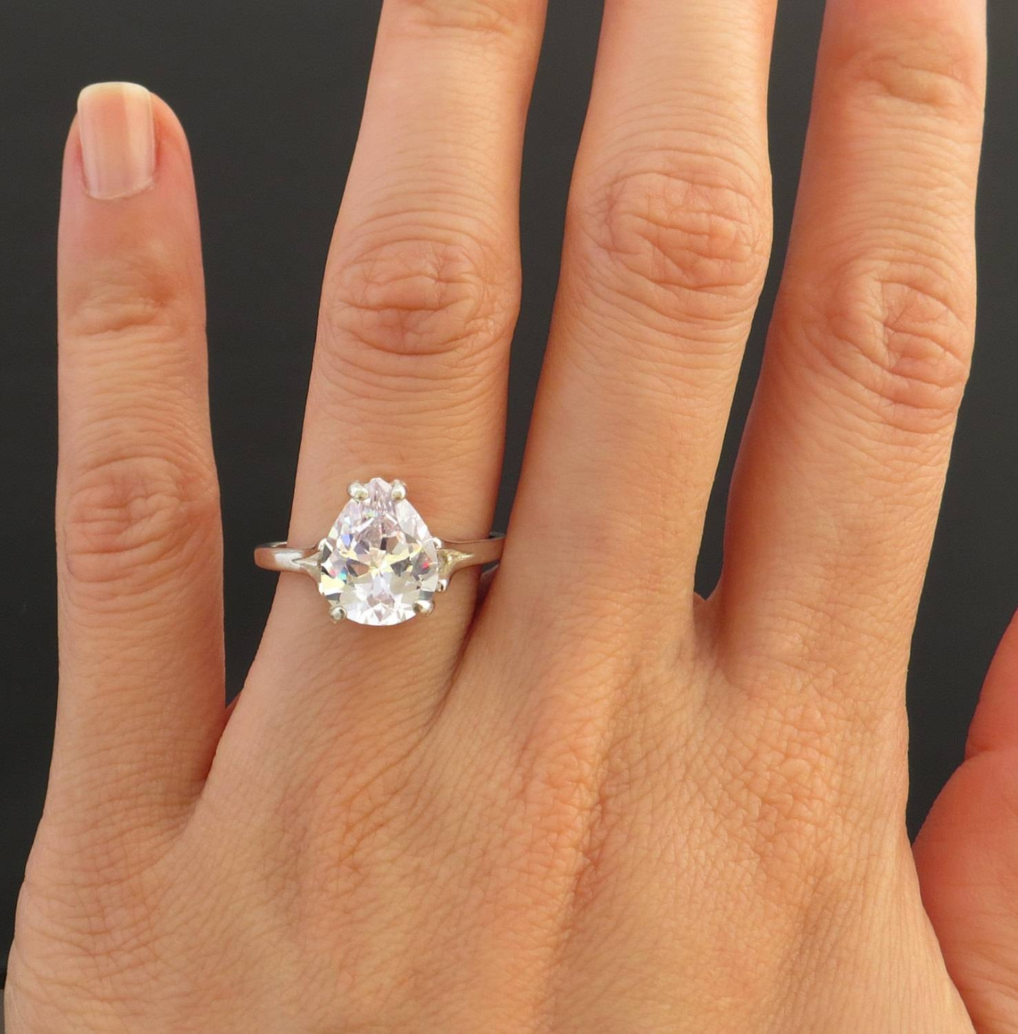 5 Carat Solitaire Diamond Ring Regarding 5 Carat Diamond Wedding Rings (Gallery 4 of 15)
