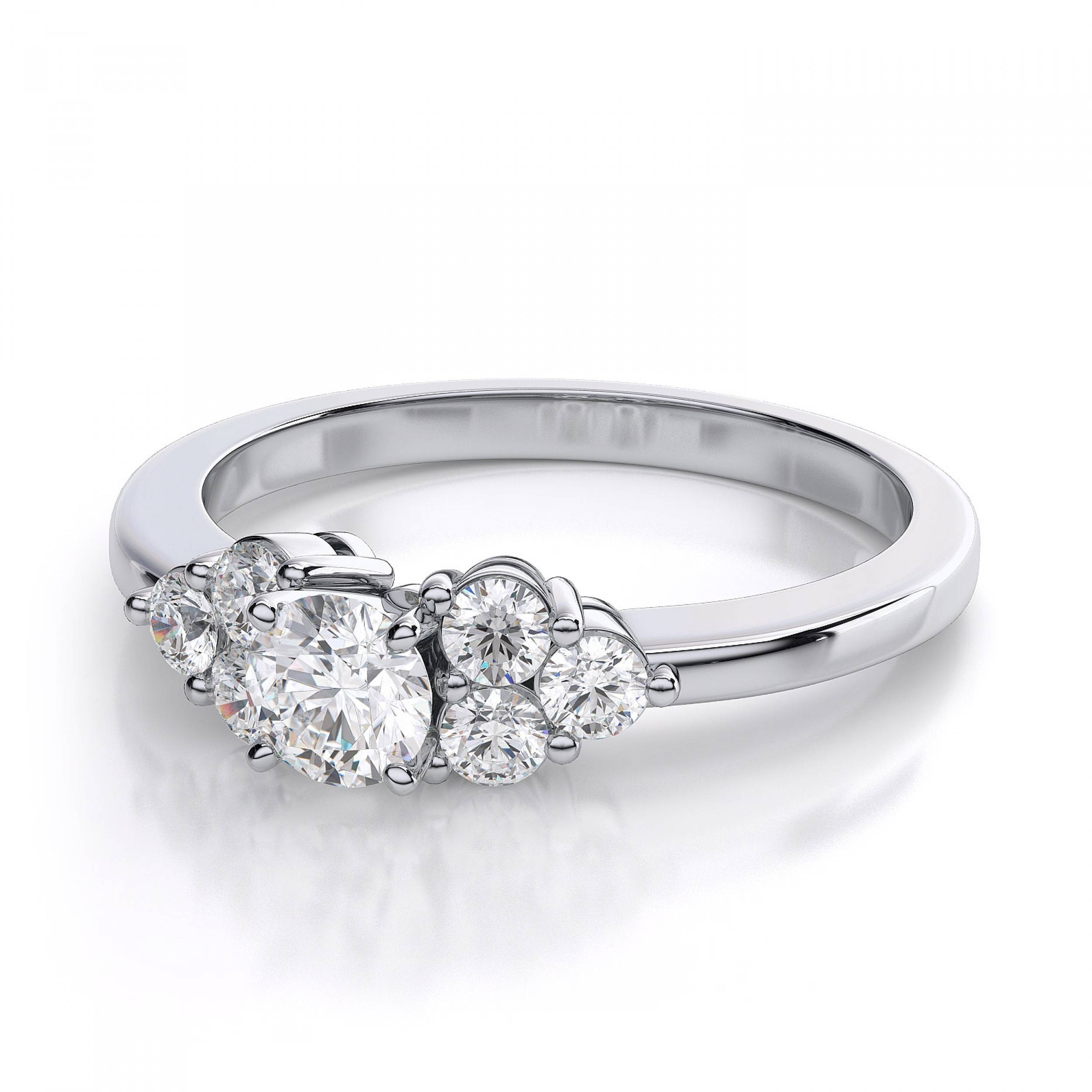 wedding store cluster diamond ring raw rings