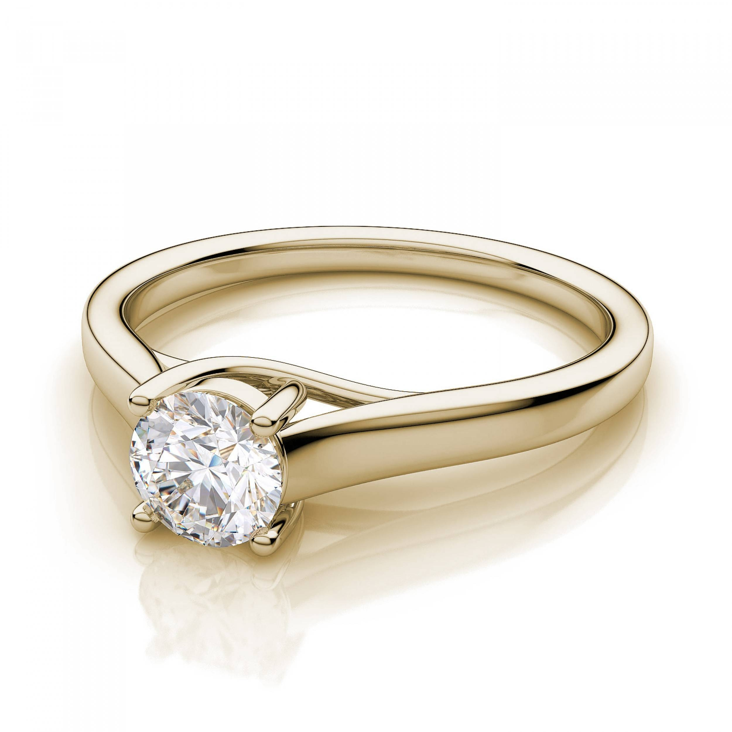 50 Carat Round Diamond Traditional Kanai Solitaire Diamond With Regard To Traditional Gold Engagement Rings (View 4 of 15)