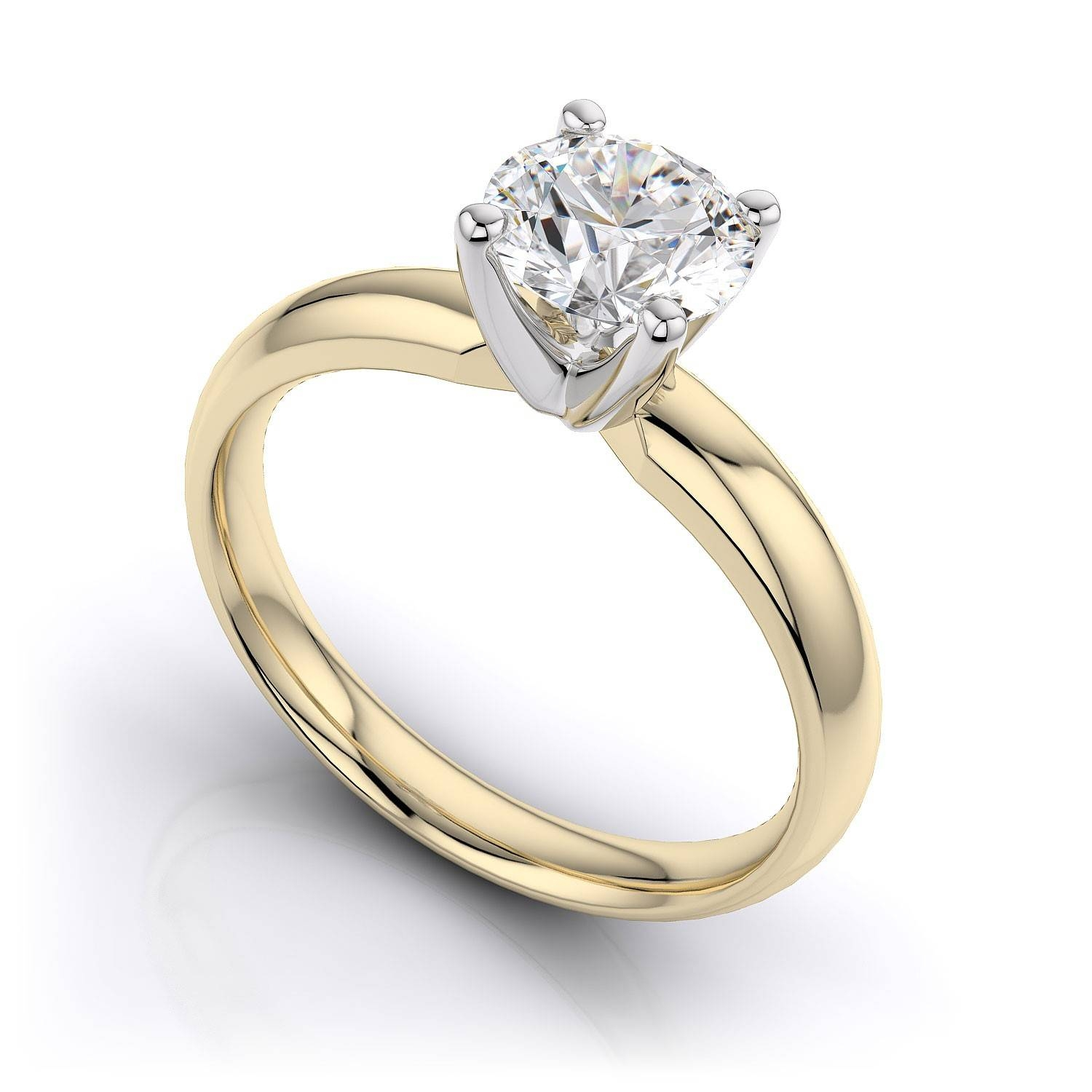 solitaire rings ring classic engagement de gold rose db beers