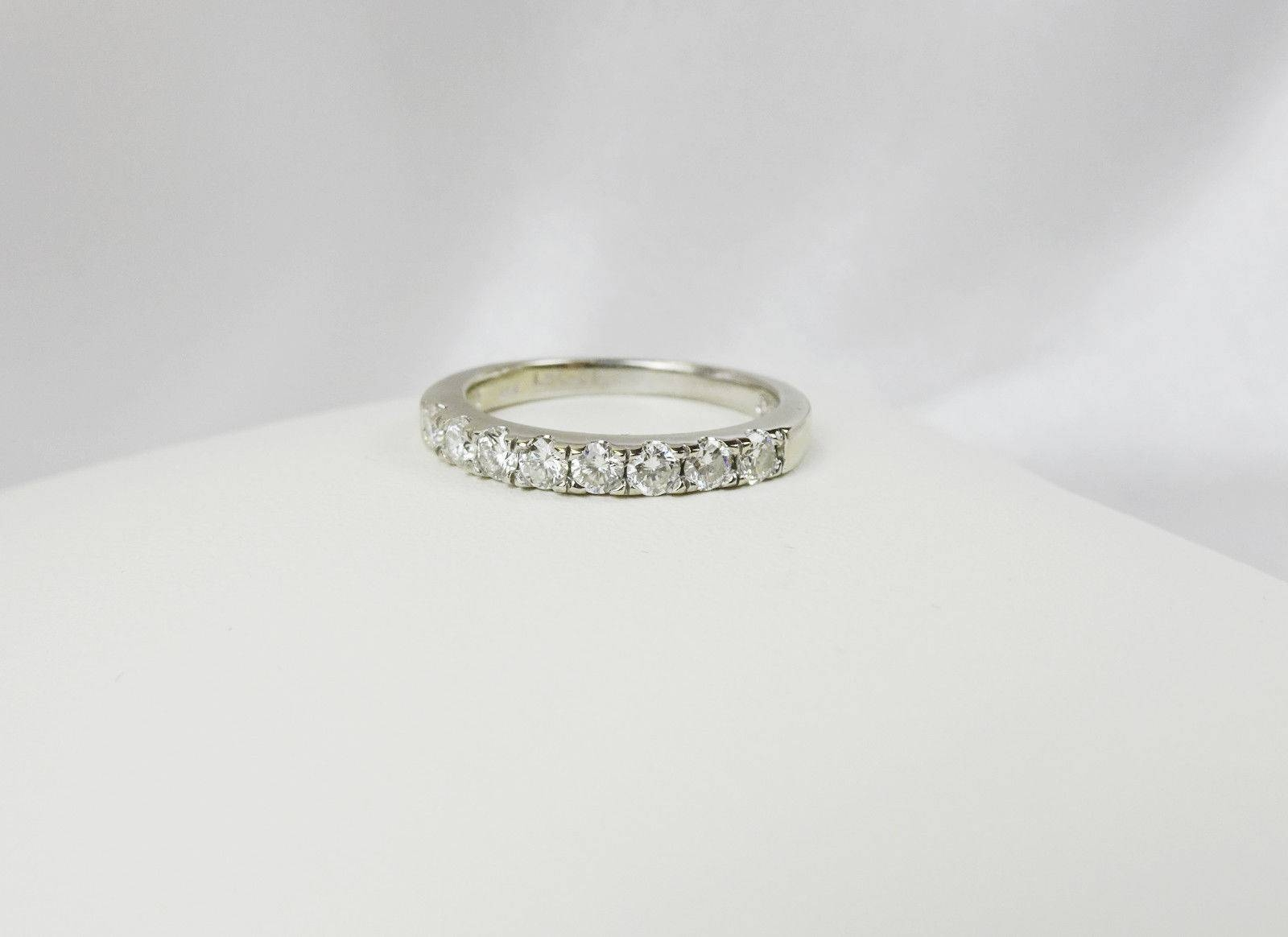 50Ctw The Leo Diamond Wedding Band 14K White Gold, From Kay With Leo Diamond Wedding Bands (View 1 of 15)
