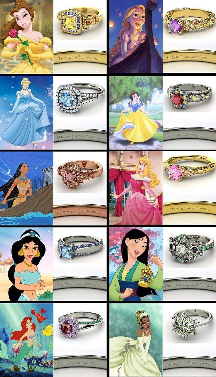 57 Best Disney Wedding ❤ Images On Pinterest | Disney Cruise/plan Pertaining To Disney Themed Engagement Rings (View 1 of 15)