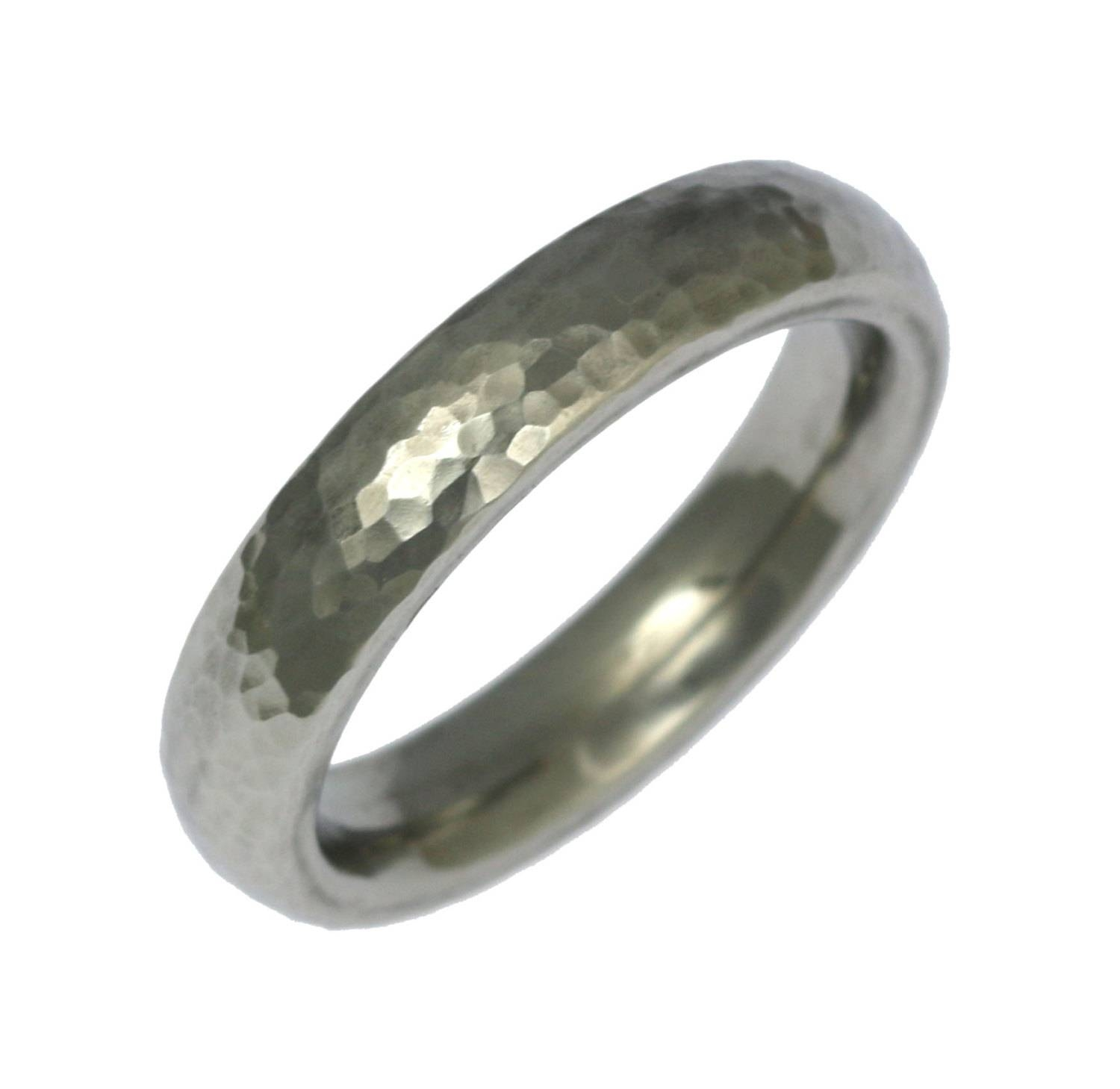 5mm Hammered Stainless Steel Mens Ring Mens Hammered Wedding Throughout Steel Wedding Bands (View 6 of 15)
