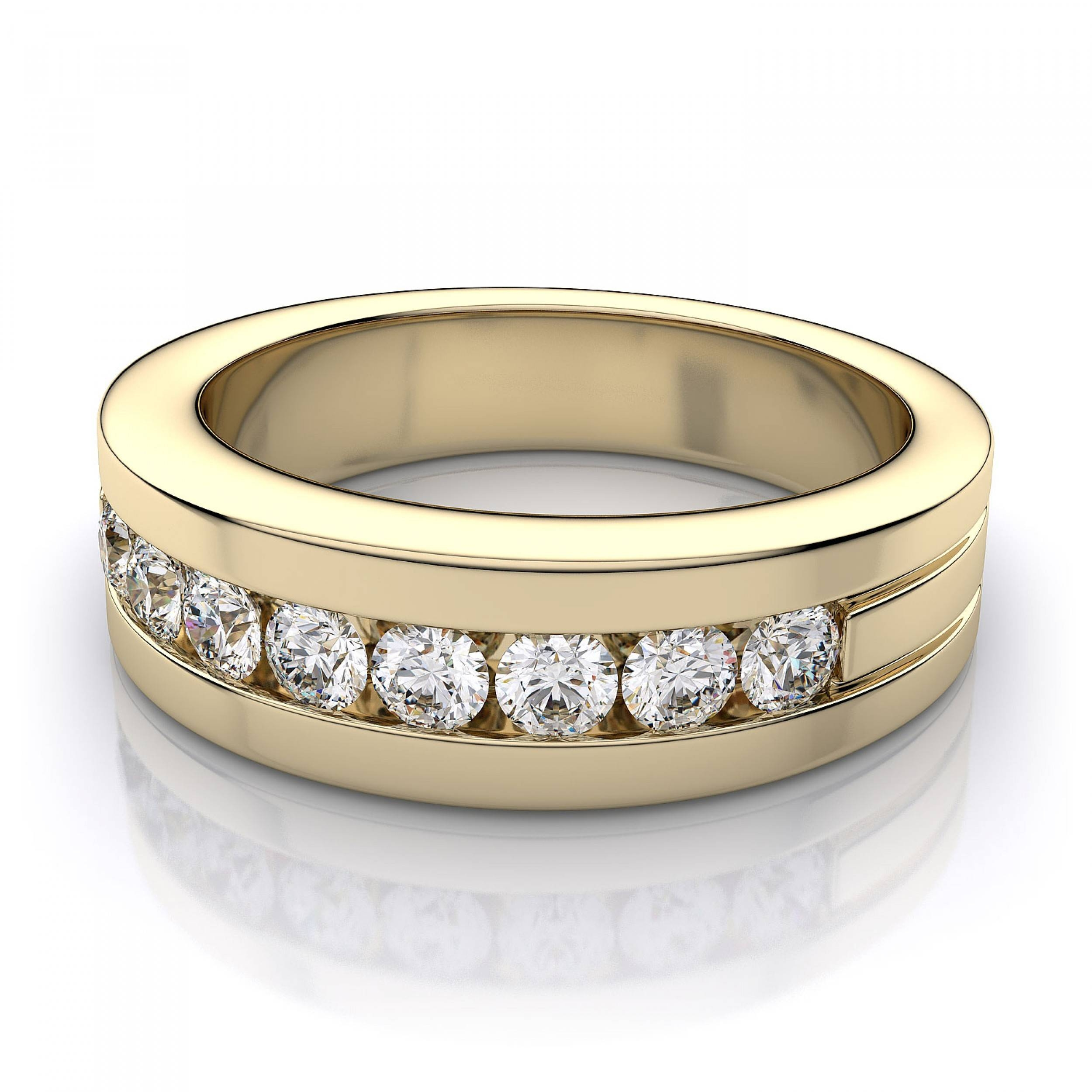 trio white diamond micropav ring eternity sided side in bands band three gold wedding and