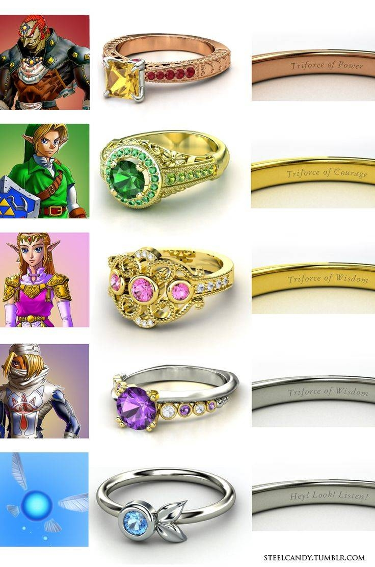 61 Best Rings Images On Pinterest | Rings, Jewelry And Wedding Stuff For Anime Wedding Rings (View 3 of 15)