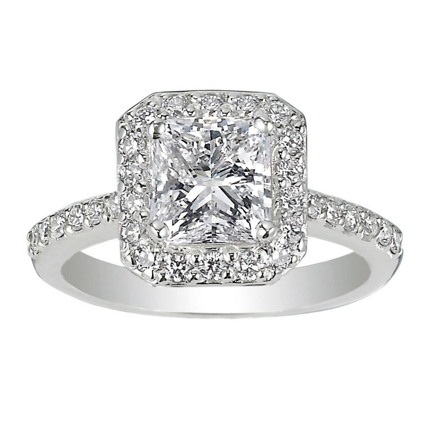 62 Diamond Engagement Rings Under $5,000 | Glamour Pertaining To Wedding Rings With Engagement Rings (View 1 of 15)