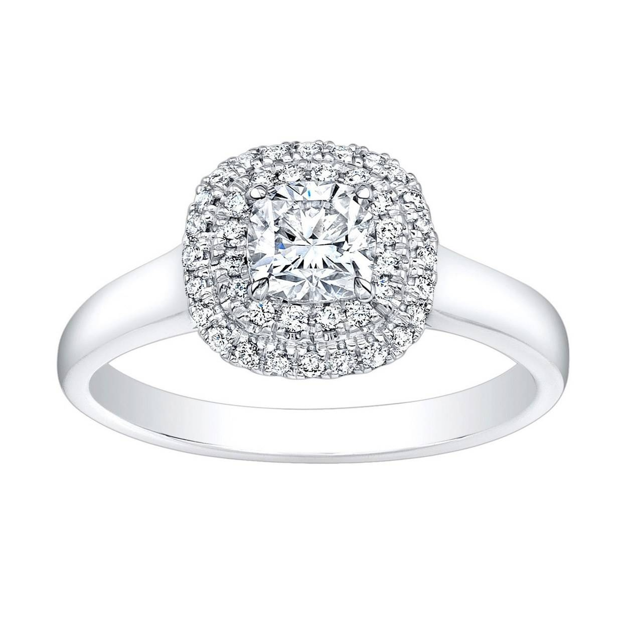 62 Diamond Engagement Rings Under $5,000 | Glamour Regarding Pave Diamond Wedding Rings (View 11 of 15)