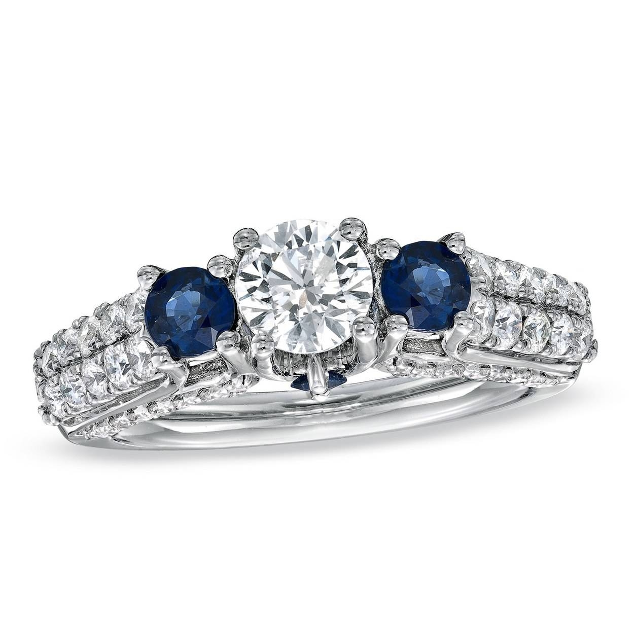 62 Diamond Engagement Rings Under $5,000 | Glamour With Regard To Engagement Rings With Sapphire (View 2 of 15)
