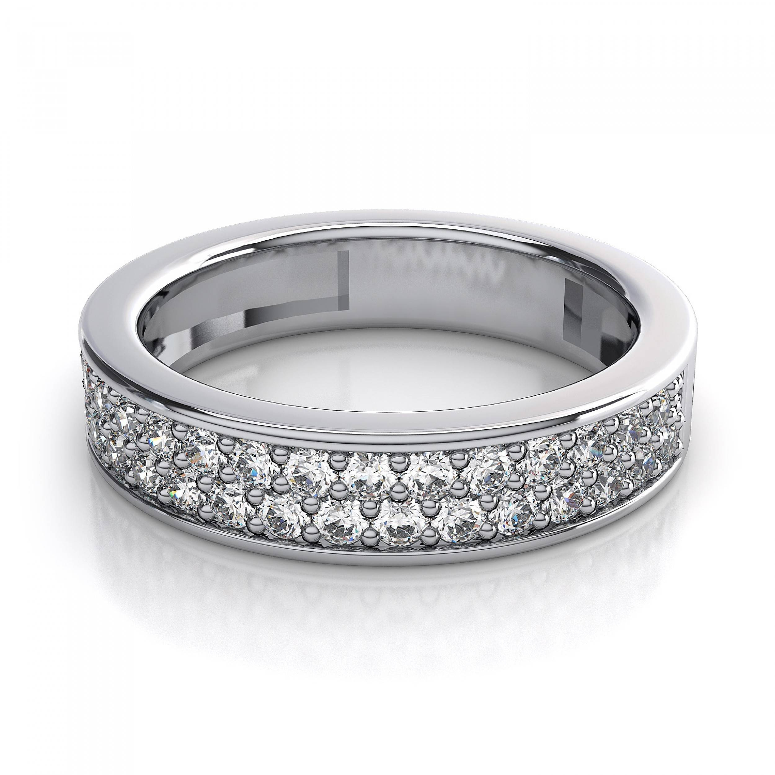 65 Carat Women's Rings Pave Diamond Wedding Ring In Platinum Within Pave Diamond Wedding Rings (View 5 of 15)