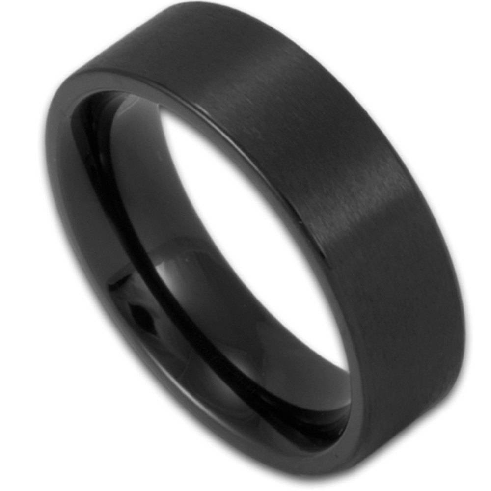 Featured Photo of Matte Black Mens Wedding Bands