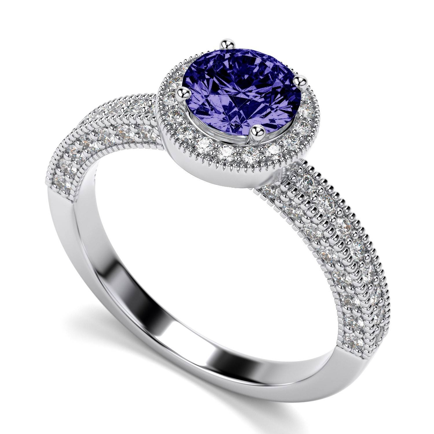 Featured Photo of Tanzanite Engagement Rings With White Gold