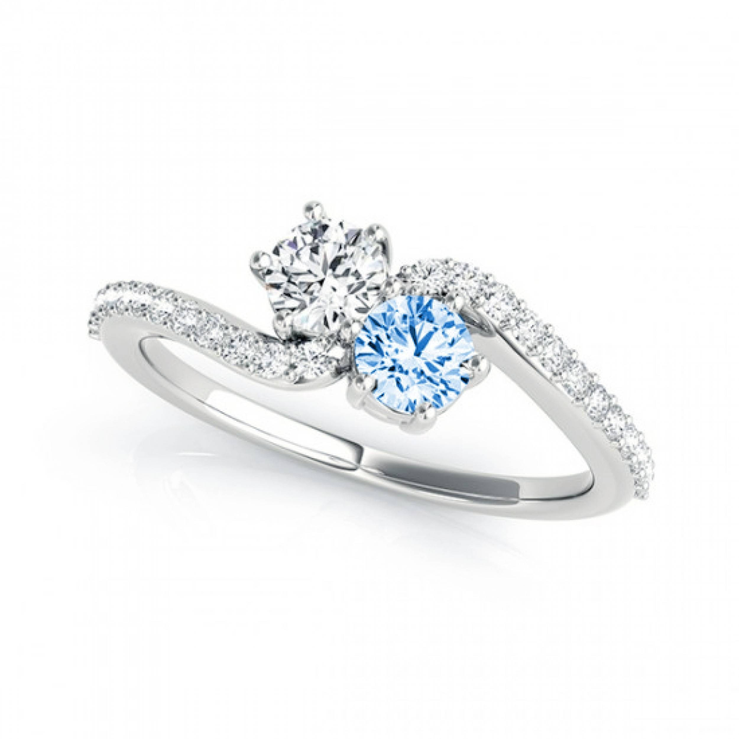 ring gold wedding in tw white amour sapphire diamond ct and rings engagement light blue