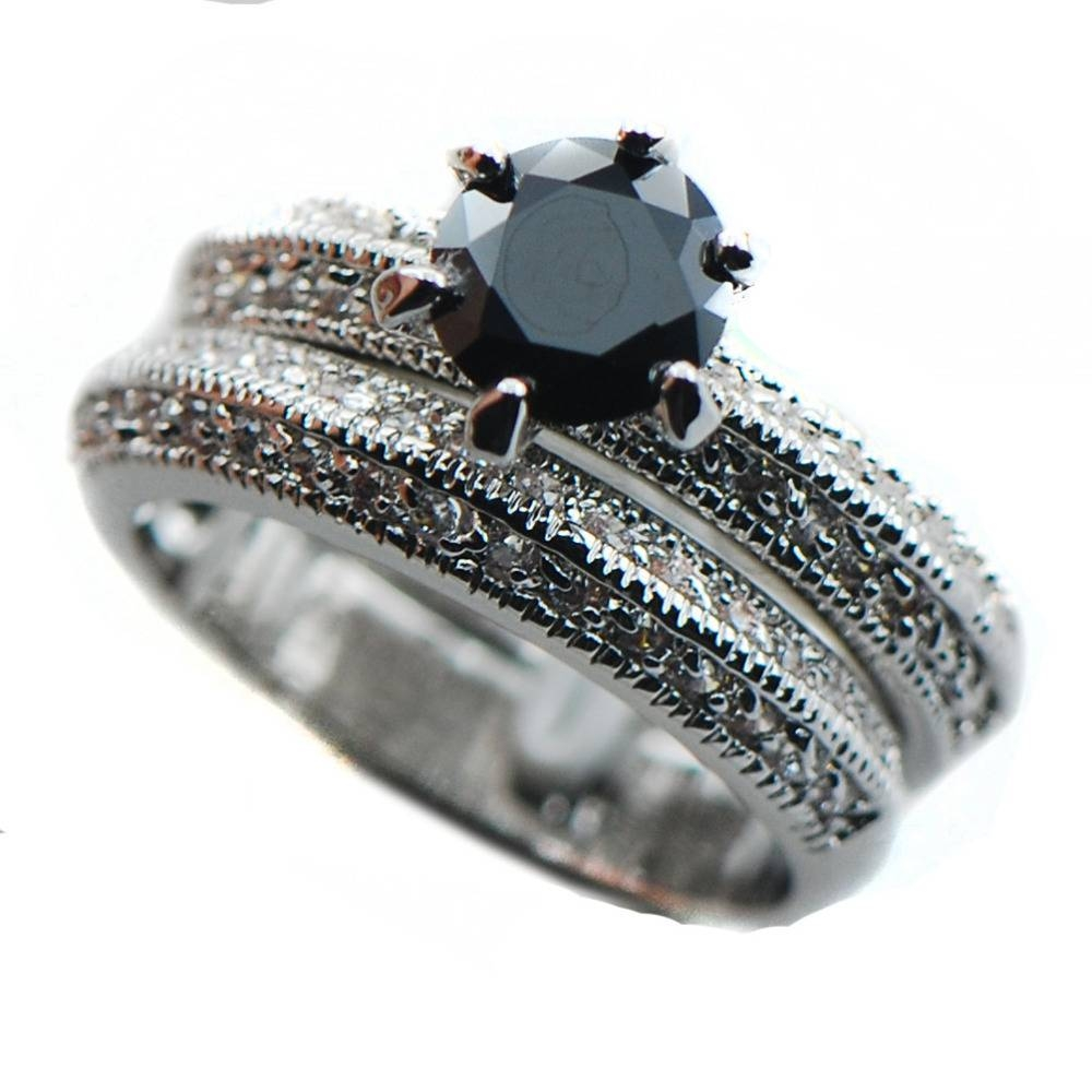 76 Black Onyx Wedding Ring Sets, Rings Bridal Sets Claddagh Rings Pertaining To Black Onyx Wedding Bands (View 2 of 15)