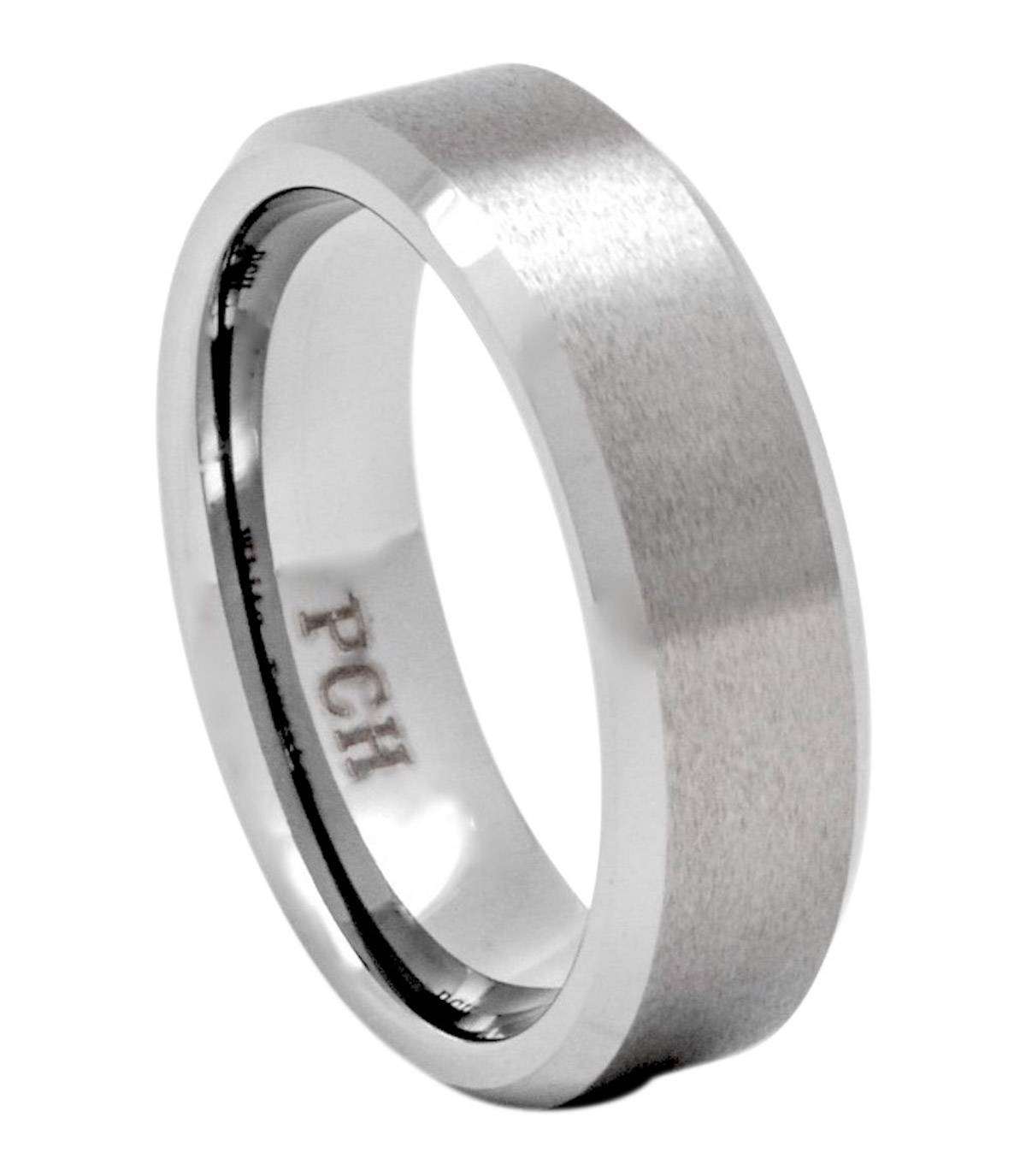 7Mm Tungsten Wedding Band Brushed Finish Comfort Fit Inside 7Mm Tungsten Wedding Bands (Gallery 10 of 15)