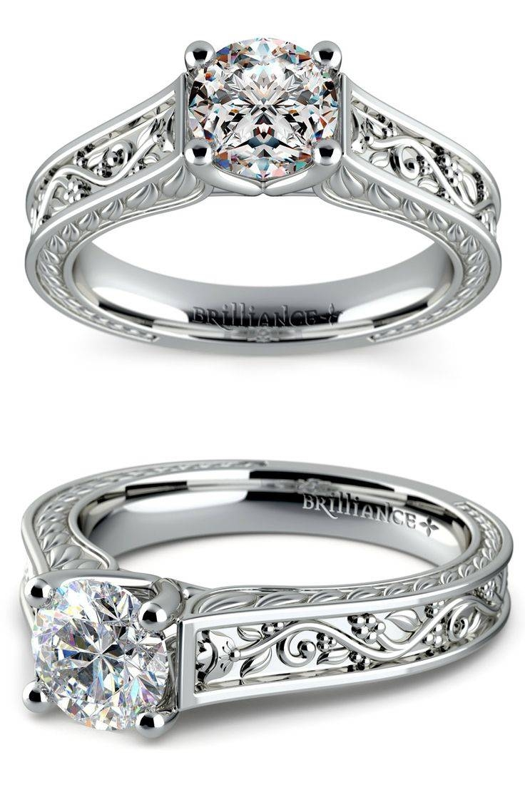 84 Best White Gold Engagement Rings Images On Pinterest Within Inset Engagement Rings (View 3 of 15)