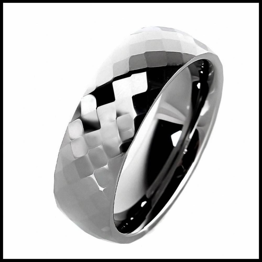 8Mm Unisex Tungsten Carbide Ring Dull Polished Plain Mens Jewelry For 7Mm Tungsten Wedding Bands (View 11 of 15)