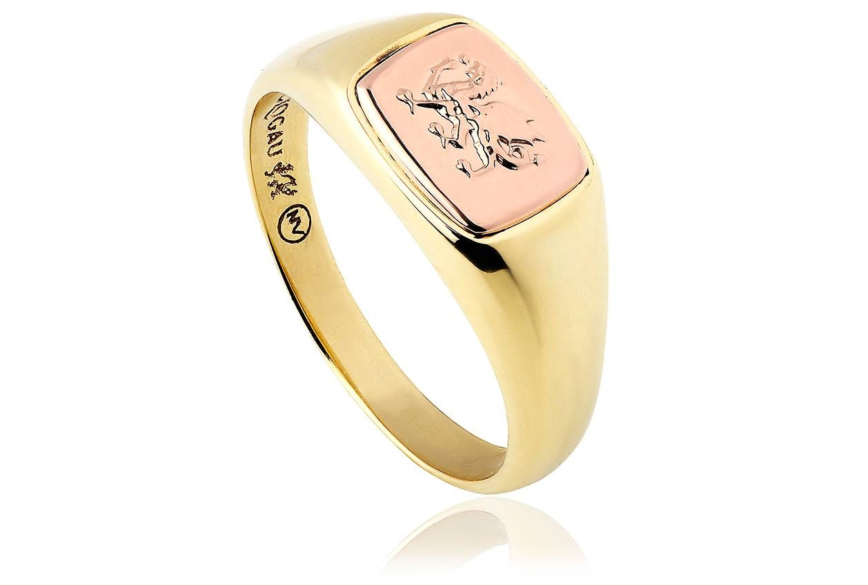 9 Carat Gold Welsh Dragon Signet Ring | Clogau Gold Intended For Welsh Engagement Rings (View 2 of 15)