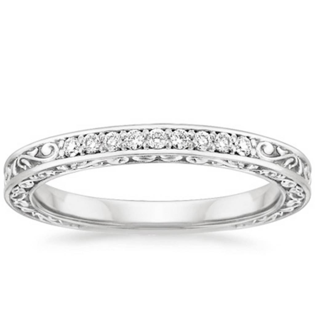 9 Dainty Wedding Rings—perfect For Those Days When You Want Low Intended For Bling Wedding Rings (View 6 of 15)