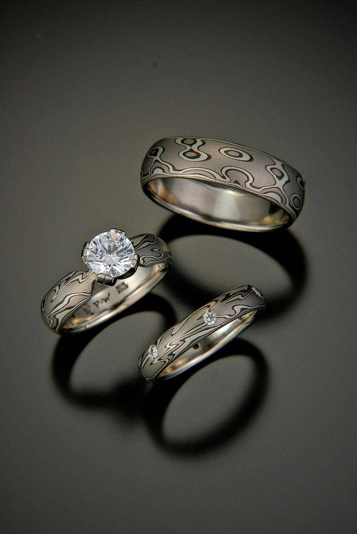 93 Best Mokume Gane Images On Pinterest | Jewelry, Damascus Steel For Mokume Gane Wedding Rings (View 11 of 15)