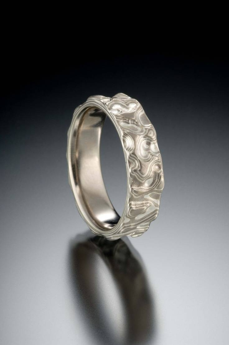 93 Best Mokume Gane Images On Pinterest | Jewelry, Damascus Steel Intended For Mokume Gane Wedding Rings (Gallery 13 of 15)