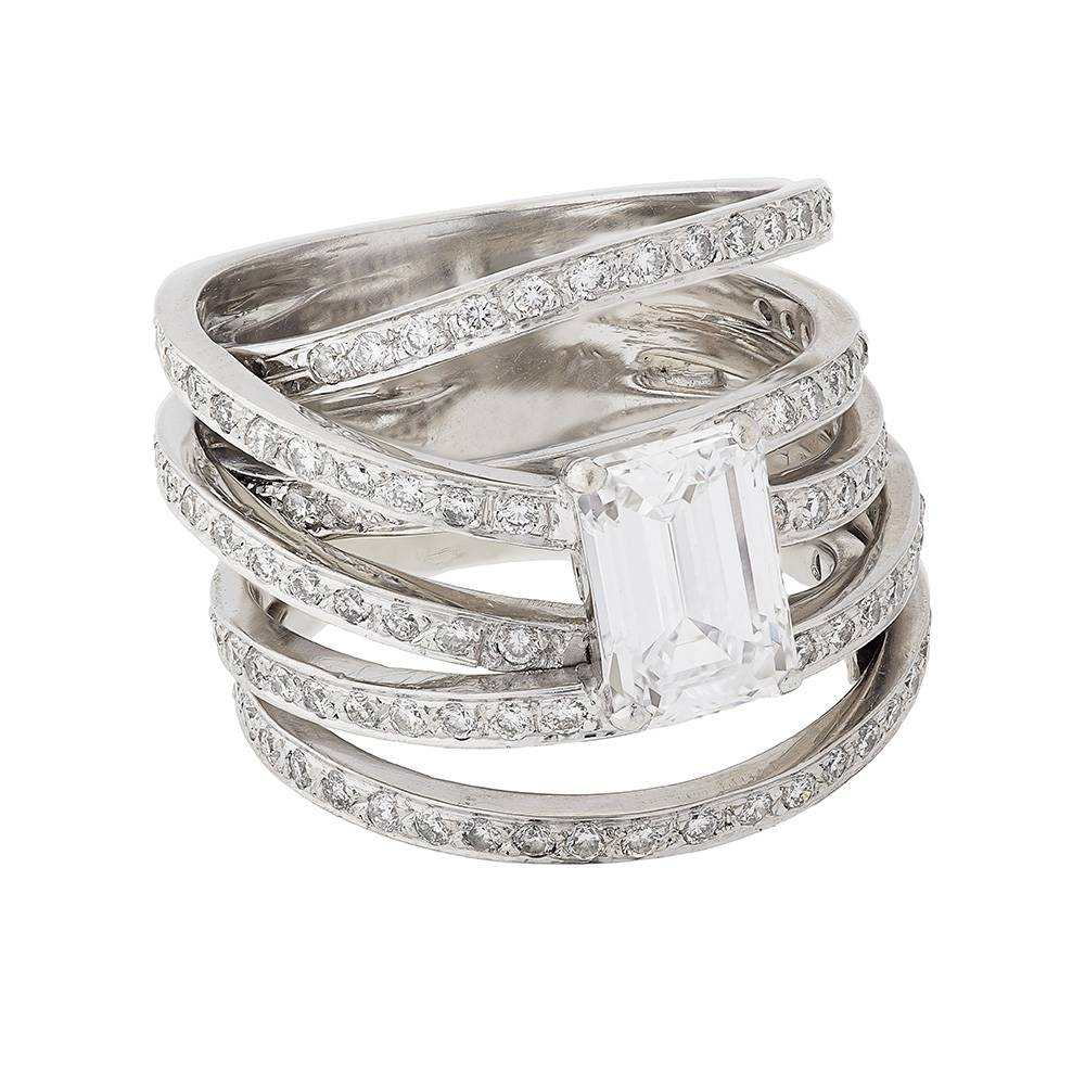 A Contemporary White Gold Diamond Ring | Buy White Gold Diamond In Contemporary Wedding Rings (View 1 of 15)