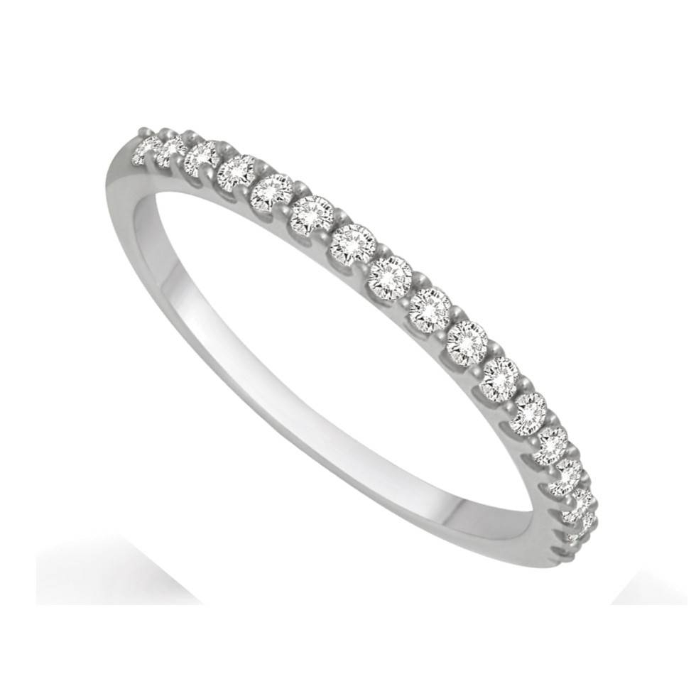 Affordable Diamond Wedding Band For Her In White Gold – Jeenjewels In Wedding Bands For Her (View 2 of 15)