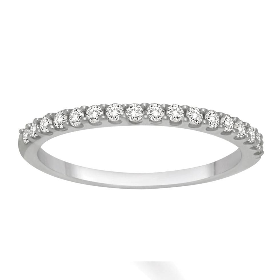 Affordable Diamond Wedding Band For Her In White Gold – Jeenjewels Pertaining To Wedding Bands For Her (View 3 of 15)