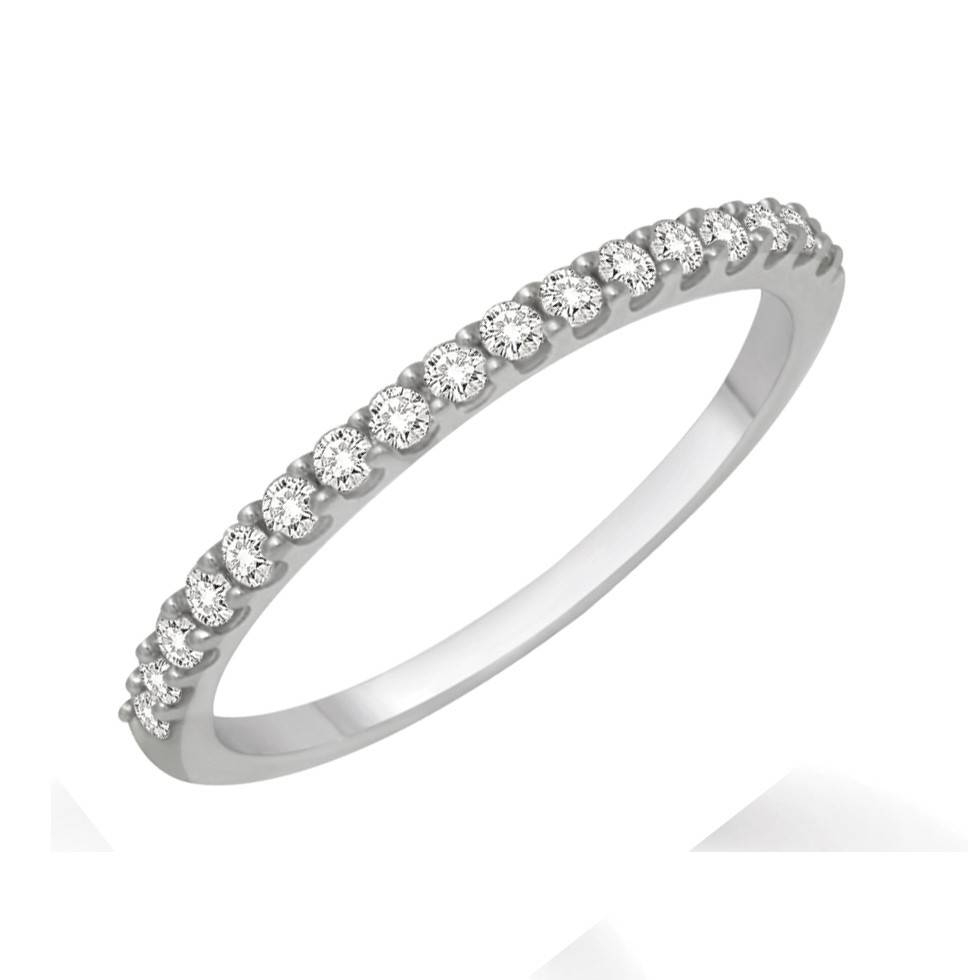 Affordable Diamond Wedding Band For Her In White Gold – Jeenjewels Within Wedding Bands For Her (View 4 of 15)