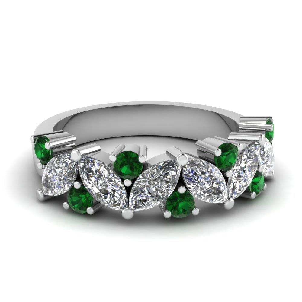 Affordable Emerald Wedding Bands For Women | Fascinating Diamonds In Emerald Wedding Rings For Women (View 2 of 15)