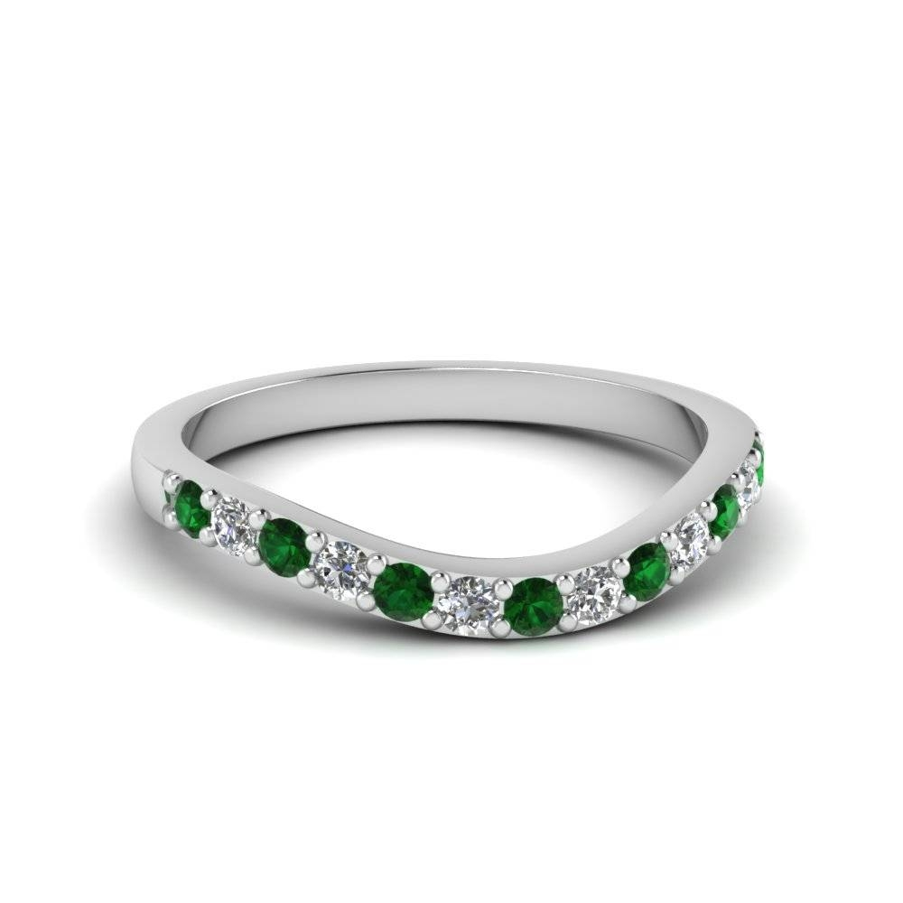 Affordable Emerald Wedding Bands For Women | Fascinating Diamonds Intended For Emerald Wedding Rings For Women (View 3 of 15)
