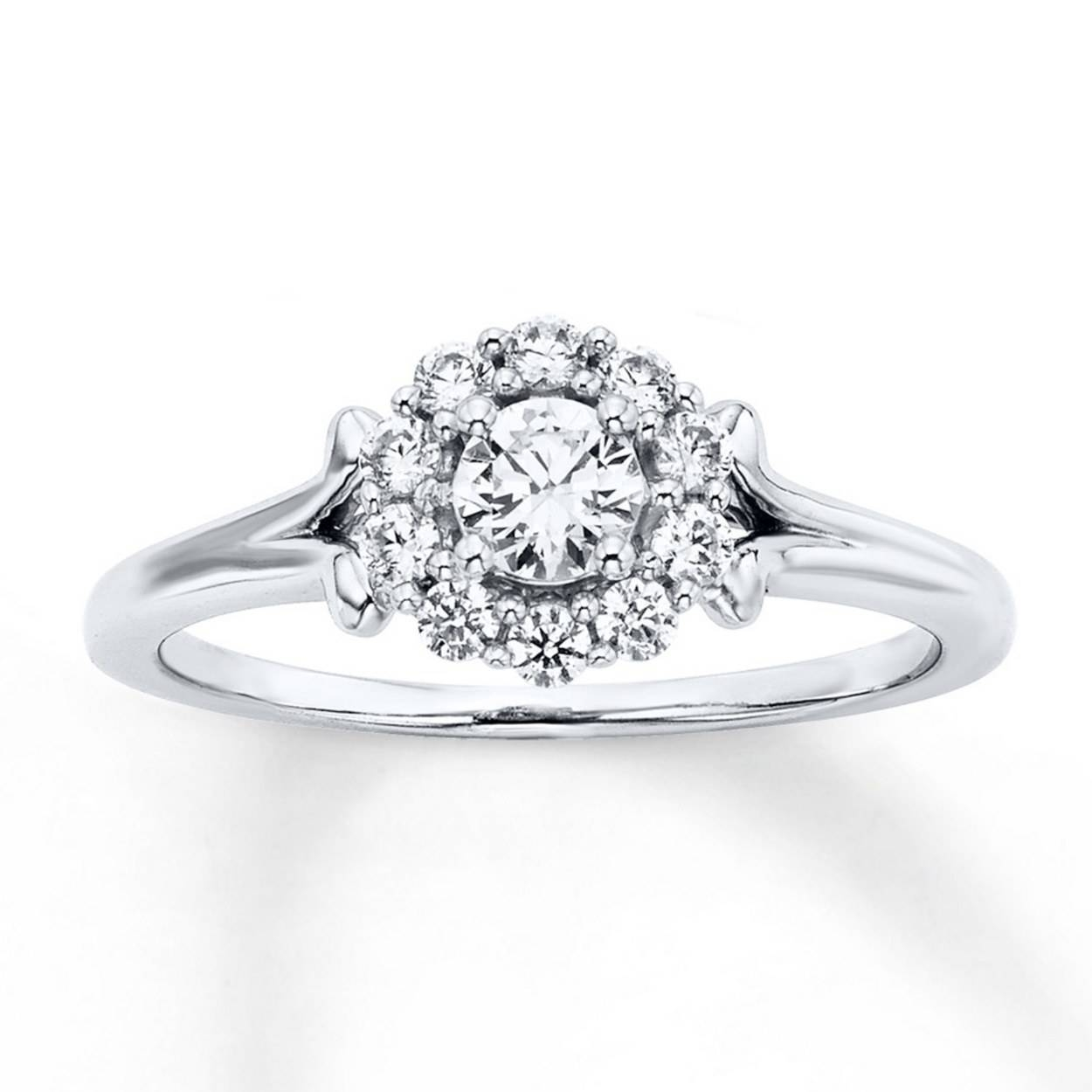 Affordable Engagement Rings Under $1,000 | Glamour With Trinity Diamond Engagement Rings (View 13 of 15)